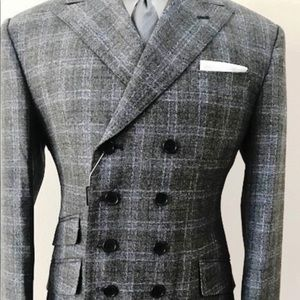 Other - Super 150 cerruti grey 8 button military wool suit